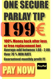 One secure parlay tip